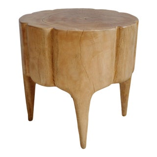 Natural Scallop Stump Stool For Sale