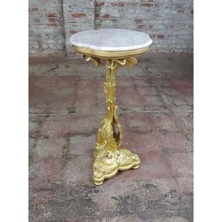 Early 20th Century Antique Art Nouveau Gilt Wood Stand Preview