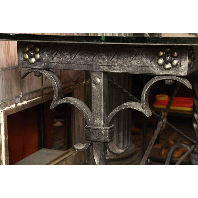 1920s 1920s Traditional Samuel Yellin Wrought Iron Bank Table For Sale - Image 5 of 12