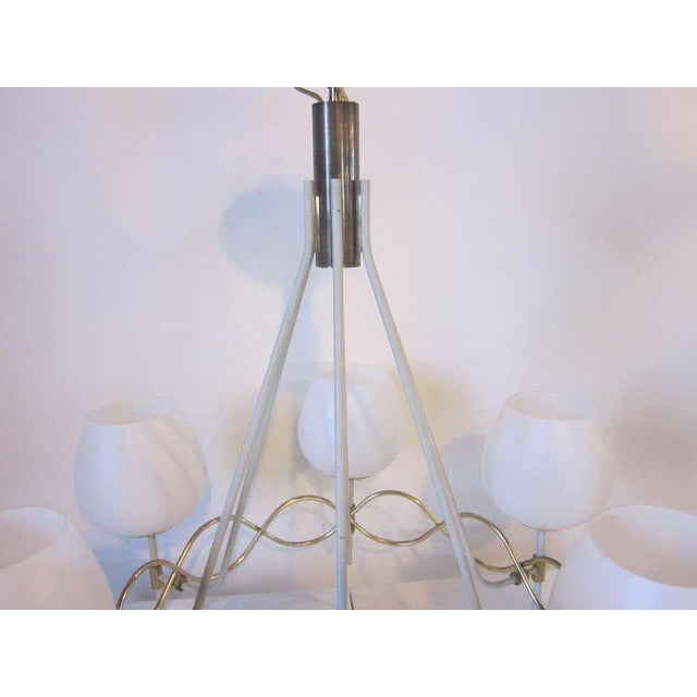 Mid 20th Century 1950s Lightolier Chandelier For Sale - Image 5 of 7