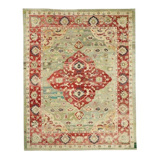 Contemporary Turkish Oushak Rug - 11′11″ × 15′ For Sale