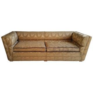 Art Deco Original Sculpted Brocade Upholstered Sofa For Sale