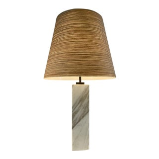 T.h. Robs-john Gibbings Marble Lamp for Hansen For Sale