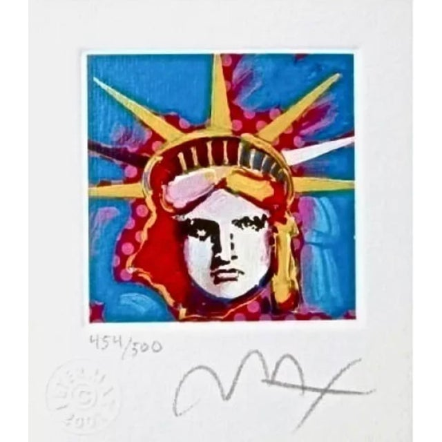 Peter Max Liberty Head I 2001 For Sale