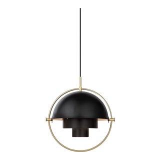 Gubi Multi-Lite L Pendant - Black and Brass For Sale