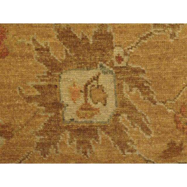 """Hand Knotted Indo-Ushak Floral Design Rug - 8'x 9'8"""" - Image 9 of 10"""