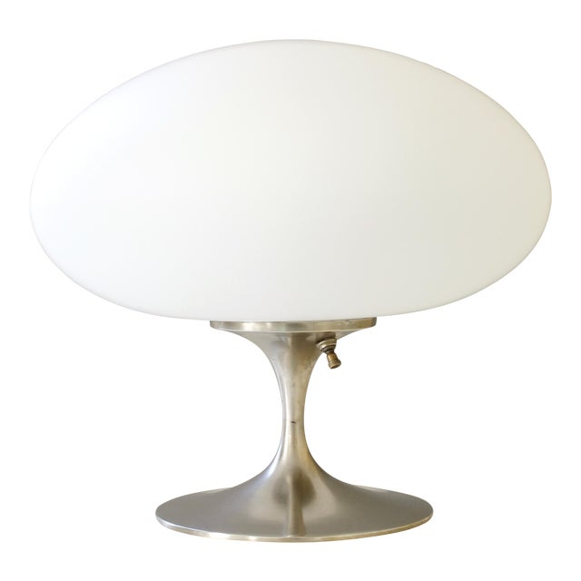 Vintage Bill Curry for Laurel Mid Century Modern Chrome Mushroom Lamp For Sale