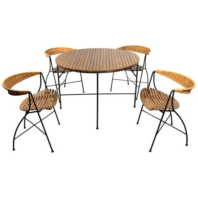 1950s Mid-Century Modern Arthur Umanoff Dining Table and Chairs Set - Set of 5 For Sale - Image 10 of 11