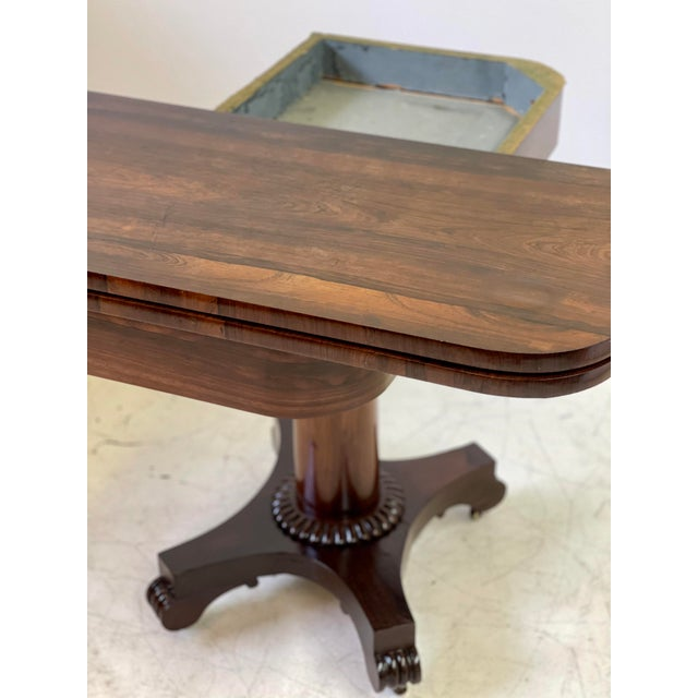 19th Century English Regency Rosewood Games Table For Sale - Image 12 of 13