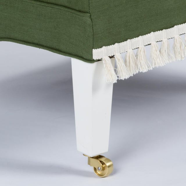 Textile Casa Cosima Sintra Chair in Verdure Linen, a Pair For Sale - Image 7 of 9