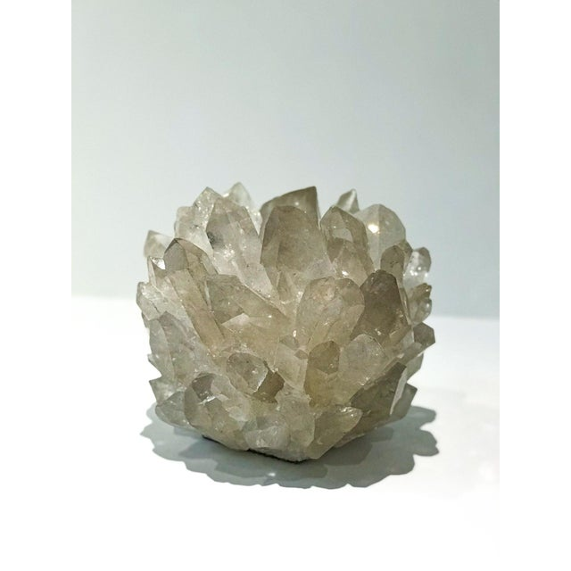 2010s Kathryn McCoy White Quartz Candle Holder For Sale - Image 5 of 5