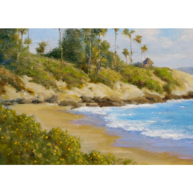 American David Chapple -Panoramic View of Laguna Beach California -Oil Painting For Sale - Image 3 of 8