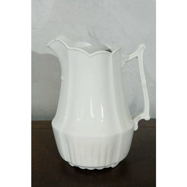 19th Century English White Ironstone Pitchers - Individual For Sale - Image 9 of 9
