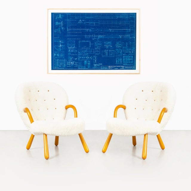 Maple Original Mies Van Der Rohe Blueprint From 1964, Illuminated Wall Details For Sale - Image 7 of 12