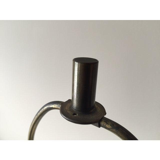 Vintage Portoro Marble & Brass Column Table Lamp - Image 9 of 9