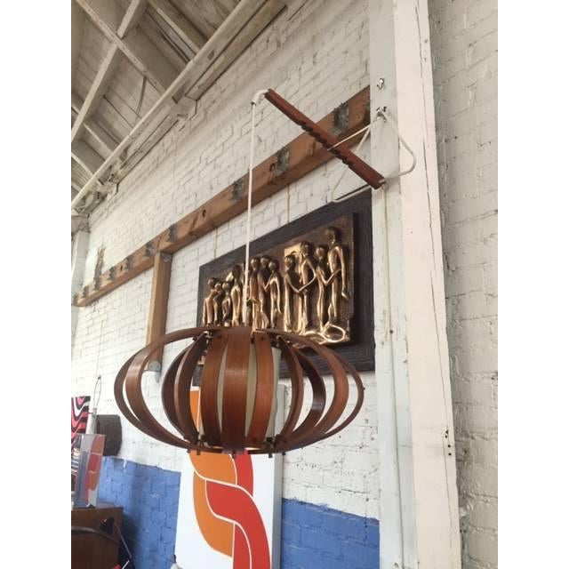 Vintage Bent Wood Wall Mounted Lamp - Image 6 of 6