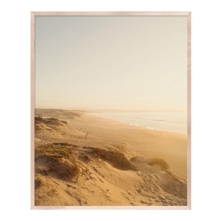 Dunes by Christine Flynn in Natural Maple Framed Paper, Small Art Print For Sale