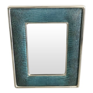 Blue Leather Photo Frame by Fabio Ltd For Sale