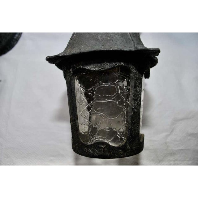 1920s Aluminum Outdoor Sconces - a Pair For Sale - Image 4 of 7