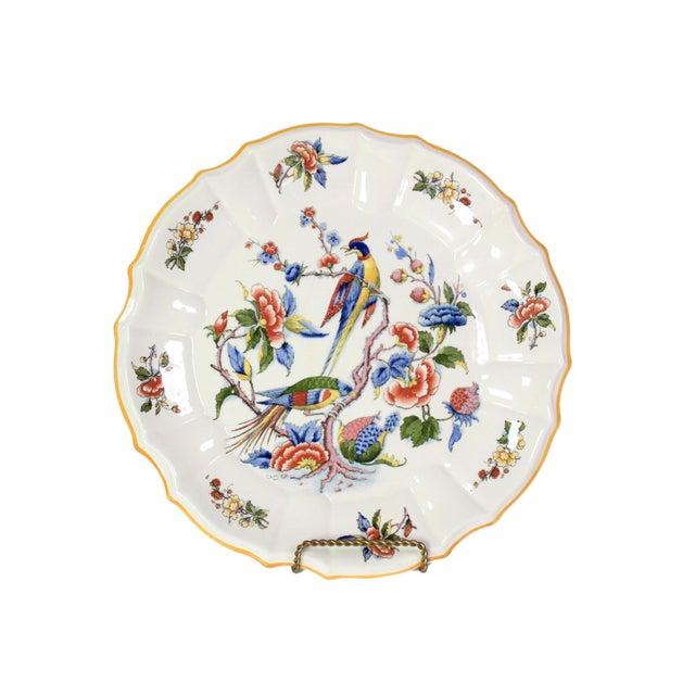 1800s Franco-German Hand-Painted Porcelain Rouen Saar Basin Plate For Sale In Los Angeles - Image 6 of 6