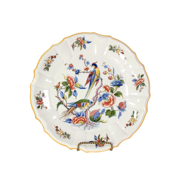 Late 1800s French Hand-Painted Porcelain Bird & Floral Botanic Plate For Sale In Los Angeles - Image 6 of 6