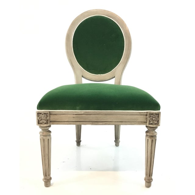 Mark Sikes for Henredon French Style Carlyle Green Velvet Chair For Sale In Atlanta - Image 6 of 6
