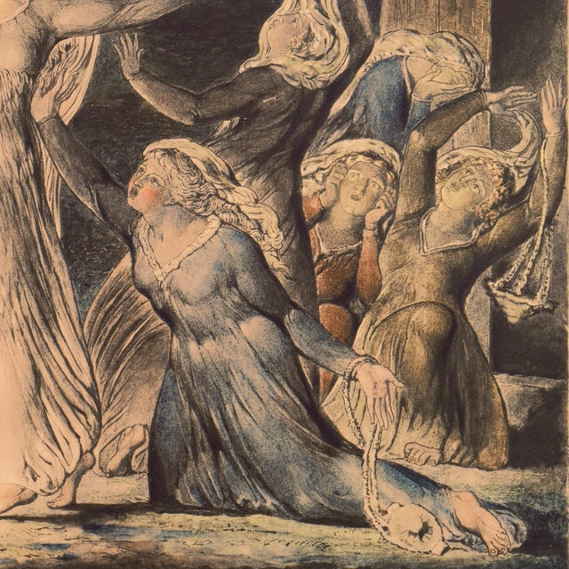 'The Parable of the Wise and Foolish Virgins' by William Blake, Proto-Symbolist Lithograph For Sale - Image 9 of 12