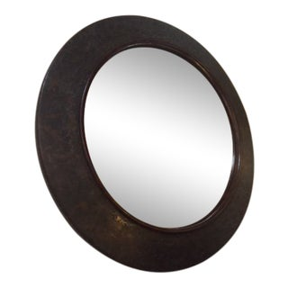1960s Traditional Maitland Smith Bronze Round Mirror