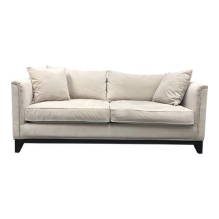 Contemporary Z-Gallerie Pauline Cream Velvet Sofa