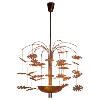 Paavo Tynell 'Snowflake Number Three' Chandelier for Taito Oy Model 9041 For Sale