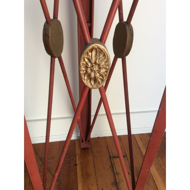 Metal Painted Tole & Bronze Plant Stands - A Pair For Sale - Image 7 of 9
