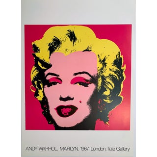 Andy Warhol Marilyn 1967 London, Tate Gallery, 1980s Exhibition Poster Reprint For Sale