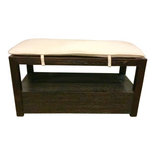 Caracole Modern Shoe Bench With Cushion For Sale
