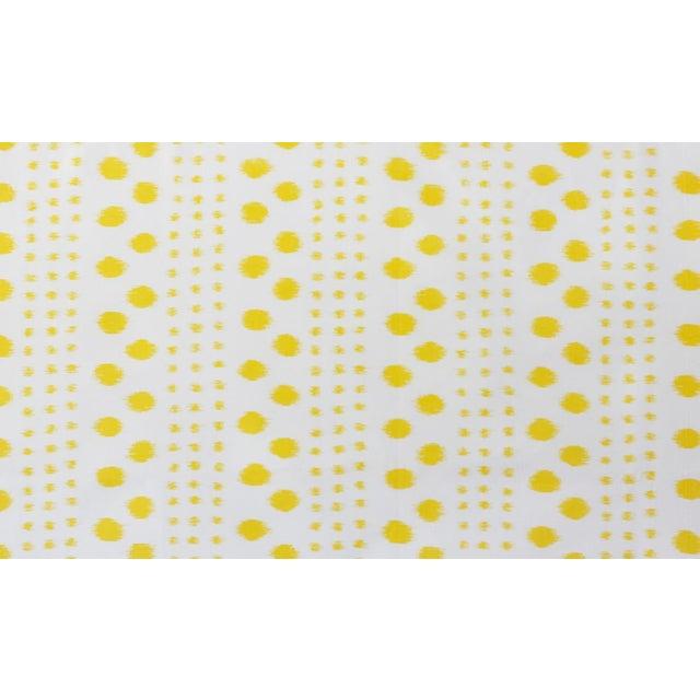 Virginia Kraft Polkat Fabric, Sample in Marigold For Sale