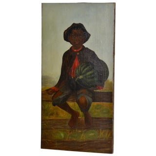 19th Century African American Folk Art Painting For Sale