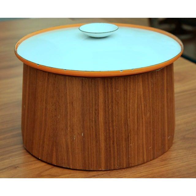Servex Teak & Enameled Steel Serving Pot/Bowl - 3 Pieces For Sale - Image 9 of 9