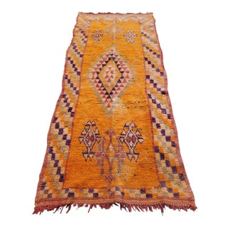 Naranja Moroccan Runner - 3′8″ × 8′4″ For Sale