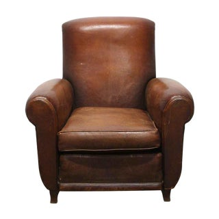 Imported Leather Club Chair For Sale