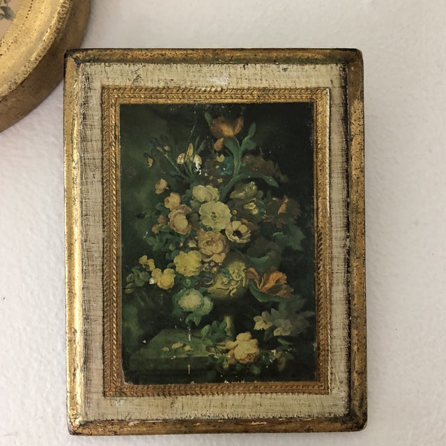 Italian Florentine Wooden Wall Collection - Set of 5 For Sale - Image 4 of 10