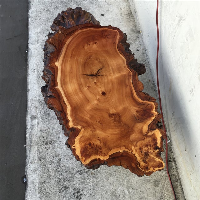 Live Edge Wooden Coffee Table - Image 6 of 11