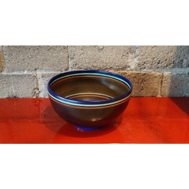 """Holland Gouda bowl signed by the artist """"jm"""" .. pattern 1384 from the splendid series."""