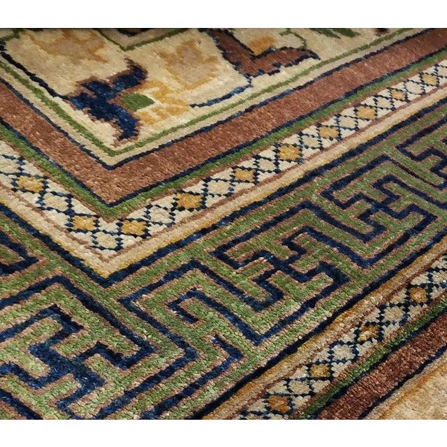 Kafkaz Peshawar Jenna Light Gold & Green Wool Rug - 9'10 X 14'0 For Sale - Image 4 of 7
