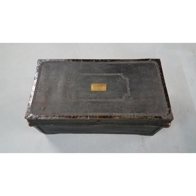 19th Century Nautical Royal Navy Officer's Campaign Chest For Sale - Image 13 of 13