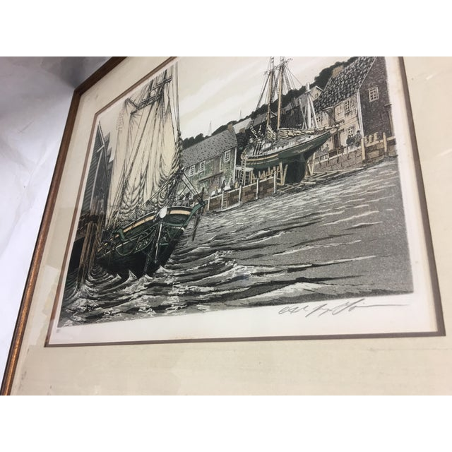 """1981 Alan Jay Gaines """"The Lookout"""" Aquatint Print For Sale - Image 4 of 9"""