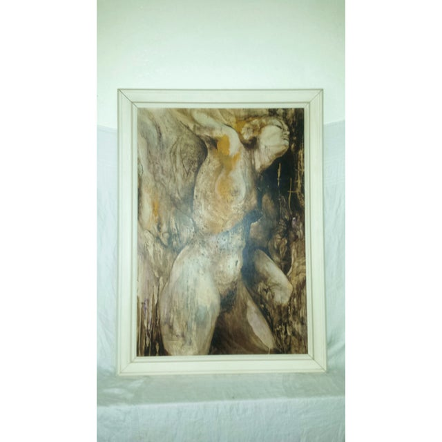 Modern Art Original Acrylic Painting of a Nude Female - Image 2 of 6
