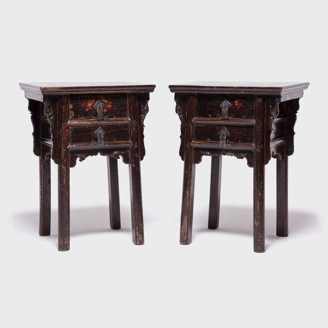 19th Century Chinese Shanxi Tall Petite Cabinets - a Pair For Sale - Image 13 of 13
