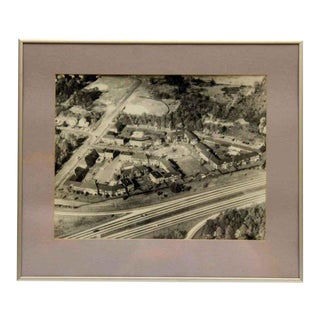 Framed & Matted Aerial Photo For Sale