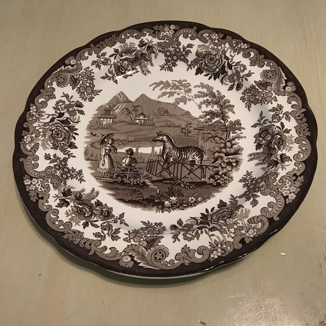 White The Spode Archive Collection Plates - Set of 6 For Sale - Image 8 of 10