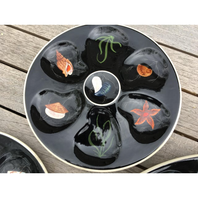 """Vintage Quimper Guy Trevoux """"Sea Life"""" Faïence Oyster Service for 6 For Sale In Providence - Image 6 of 12"""