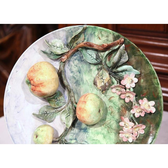 Longchamp Late 19th Century French Barbotine Wall Platter For Sale - Image 4 of 10